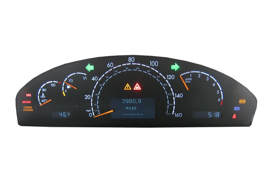 Programa 220 540 04 47 mercedes benz instrument cluster for Mercedes benz cluster repair
